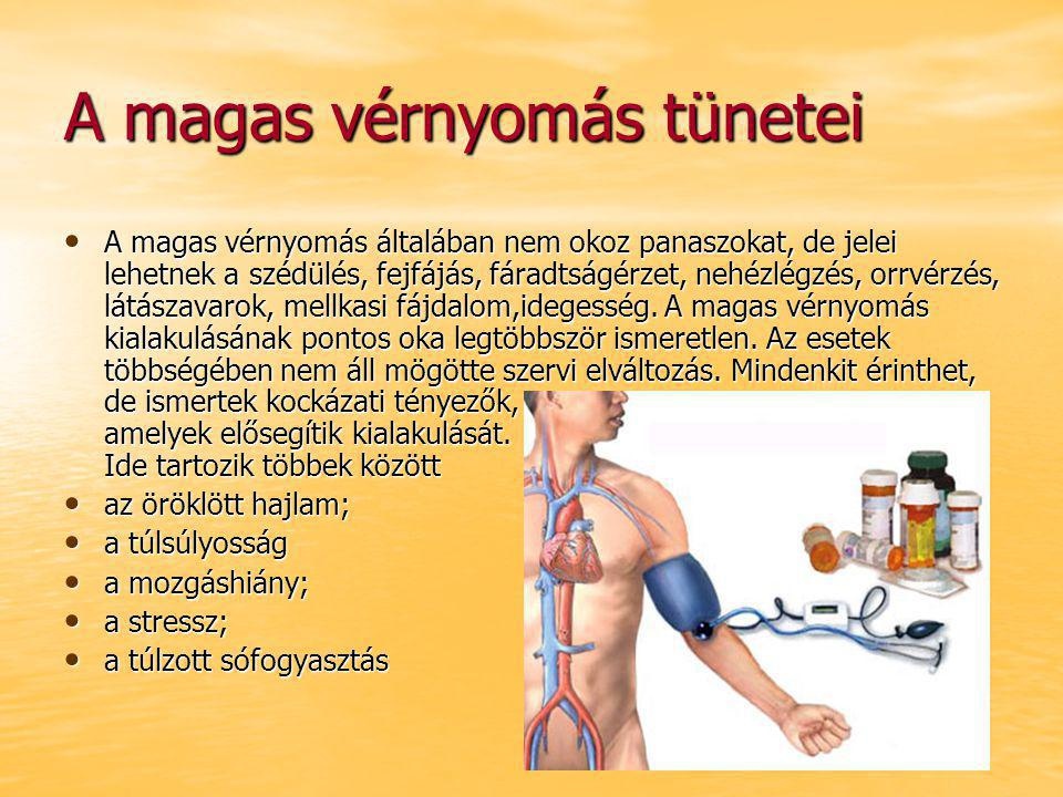 a magas vérnyomás tünetei és jelei