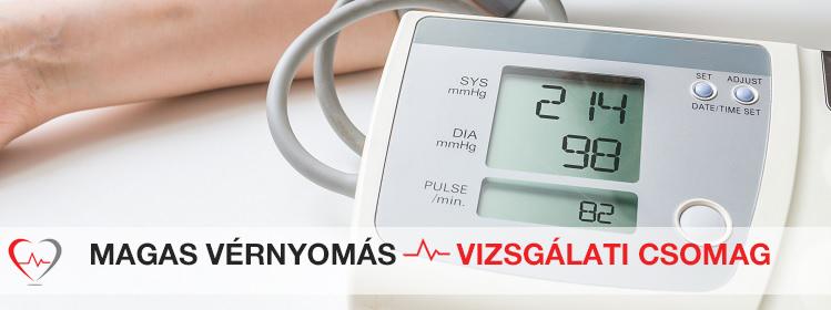 magas vérnyomás vizsgálati módszerek